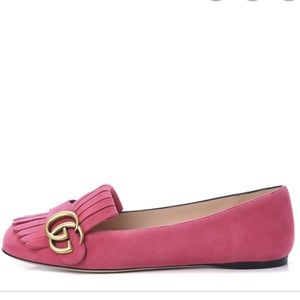 Gucci loafers hot pink